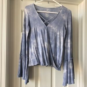American Eagle tie dye top